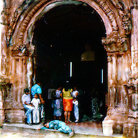 The entire family go on the pilmrimage to a sacred church many villages away.<br />