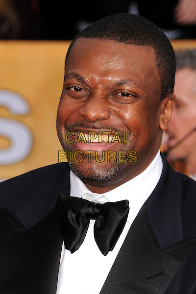 Chris Tucker.Arrivals at the 19th Annual Screen Actors Guild Awards at the Shrine Auditorium in Los Angeles, California, USA..27th January 2013.SAG SAGs headshot portrait black white bow tie tuxedo goatee facial hair smiling .CAP/ADM/BP.©Byron Purvis/AdMedia/Capital Pictures