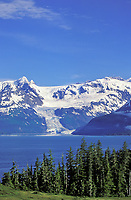 Chugach mountains, Cascade glacier, Barry Arm, Prince William Sound, Alaska
