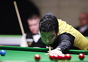 30th November 2017, York, England;  Li Hang of China competes during the first round match with Gerard Greene of Northern Ireland at 2017 UK Snooker Championship in York on Nov. 30, 2017. Li Hang won 6-1.