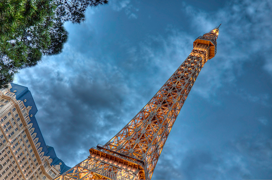 LAS VEGAS, NV - MAY 31: Eiffel tower replica of taken in May 31, 2009 in the Paris Las Vegas Hotel. This hotel and casino is located on the Las Vegas Strip. As its name suggests, its theme is the city of Paris in France; it includes a half scale, 541-foot-tall (164.6 m) replica of the Eiffel Tower