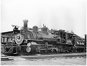 D&amp;RGW #459 K-27 left front view in Durango yard.<br /> D&amp;RGW  Durango, CO  Taken by Richardson, Robert W. - 7/5/1941