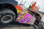 Sep 9, 2011; 11:34:41 AM; Rossburg, OH., USA; The 41st annual running of the World 100 Dirt Late Models racing for the Globe trophy at the Eldora Speedway.  Mandatory Credit: (thesportswire.net)