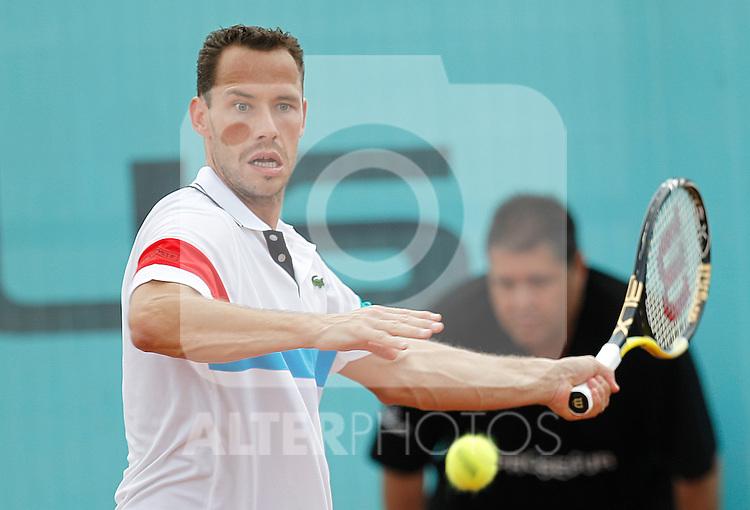 France's Michael Llodra during Mutua Madrid Tennis Open on May 4, 2011...Photo: Alex Cid-Fuentes / ALFAQUI
