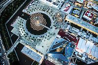 Expo 2015 Milano vista dall'alto. Il padiglione Italia e l'albero della vita.
