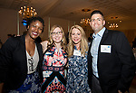 SOUTHINGTON, CT-050318JS12- Tameeka Cribs of Webster Bank; Marysia Walker of WORX; Julee Busalacchi of WORX and Bill Cekousky of MacDermid Performance Solutions  at the United Way of Greater Waterbury's 32nd annual Community Leaders Dinner and Awards event at the Aqua Turf in Southington. <br /> Jim Shannon Republican American