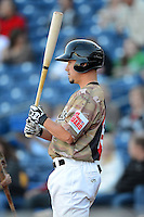 Quad Cities River Bandits first baseman Miles Hamblin #15 during a game against the Wisconsin Timber Rattlers on May 24, 2013 at Modern Woodmen Park in Davenport, Iowa.  Quad Cities defeated Wisconsin 4-3  (Mike Janes/Four Seam Images)