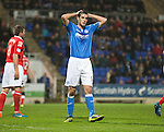 St Johnstone v Ross County....29.11.14   Scottish Cup 4th Round<br /> Brian Graham holds his head after missing an opportunity to score<br /> Picture by Graeme Hart.<br /> Copyright Perthshire Picture Agency<br /> Tel: 01738 623350  Mobile: 07990 594431