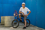 Red Bull BMX athlete Chiao Hung Cheng performs during a photo session on 29th October 2014 in Taipei, Taiwan. Photo by Victor Fraile / Power Sport Images