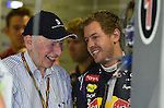 John Surtees (GBR) - Sebastian Vettel (GER), Red Bull Racing<br />  Foto &copy; nph / Mathis