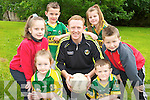 Pictured with Colm Cooper during his master skills class in the Holy Cross National school Killarney on Friday were Ryan Neeson, Kayla Barry, Alex O'Callaghan, Krolena Rafarska, Chloe O'Brien and Patrick McCarthy..................................