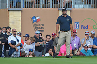 Ryan Moore (USA) looks over his birdie putt on 18 during day 4 of the Valero Texas Open, at the TPC San Antonio Oaks Course, San Antonio, Texas, USA. 4/7/2019.<br /> Picture: Golffile | Ken Murray<br /> <br /> <br /> All photo usage must carry mandatory copyright credit (© Golffile | Ken Murray)