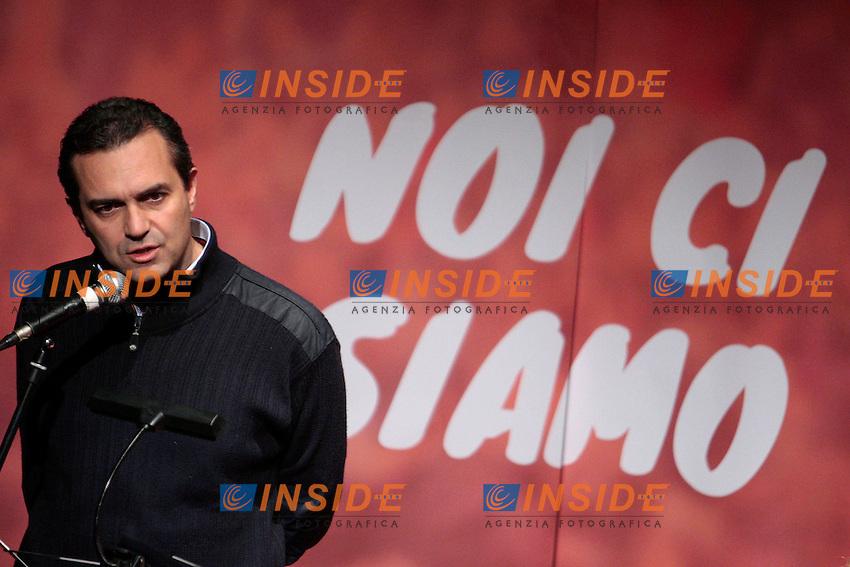 Luigi De Magistris.Roma 01/12/2012 Teatro Vittoria. Prima assemblea nazionale della campagna 'Cambiare si puo', noi ci siamo!', un movimento di associazioni, comunemente chiamato 'arancioni'..Photo Samantha Zucchi Insidefoto