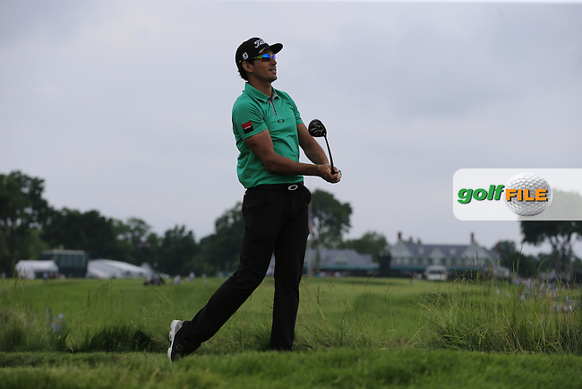 Rafa Cabrera-Bello (ESP) tees off the 5th tee during Thursday's Round 1 of the 2016 U.S. Open Championship held at Oakmont Country Club, Oakmont, Pittsburgh, Pennsylvania, United States of America. 16th June 2016.<br /> Picture: Eoin Clarke | Golffile<br /> <br /> <br /> All photos usage must carry mandatory copyright credit (&copy; Golffile | Eoin Clarke)