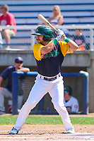Beloit Snappers second baseman Josh Vidales (16) at the plate during a Midwest League game against the Cedar Rapids Kernels on September 3, 2017 at Pohlman Field in Beloit, Wisconsin. Beloit defeated Cedar Rapids 3-2. (Brad Krause/Four Seam Images)