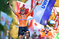 Anna Van Der Breggen celebrates the victory during the Women Elite Road Race<br /> Foto Phonews/Panoramic/Insidefoto <br /> ITAY ONLY