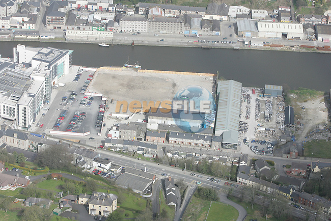 Aerial view of Drogheda showing, Scotch Hall, The d Hotel, looking North across the Boyne...Photo NEWSFILE/Fran Caffrey.(Photo credit should read Fran Caffrey/NEWSFILE)....This Picture has been sent you under the condtions enclosed by:.Newsfile Ltd..The Studio,.Millmount Abbey,.Drogheda,.Co Meath..Ireland..Tel: +353(0)41-9871240.Fax: +353(0)41-9871260.GSM: +353(0)86-2500958.email: pictures@newsfile.ie.www.newsfile.ie.FTP: 193.120.102.198...This picture is from Fran Caffrey@newsfile.ie