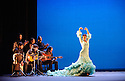 London, UK. 16.02.2015. Flamenco Festival London 2015 kicks off with GALA FLAMENCA, at Sadler's Wells. The compnay comrises: Antonio Canales, Carlos Rodriguez, Karime Amaya, Carmen Coy, Lucia Campillos. Photograph © Jane Hobson.