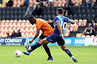 Andre Boucaud of Barnet  and Matt Bloomfield of Wycombe Wanderers during Barnet vs Wycombe Wanderers, Friendly Match Football at the Hive Stadium on 13th July 2019