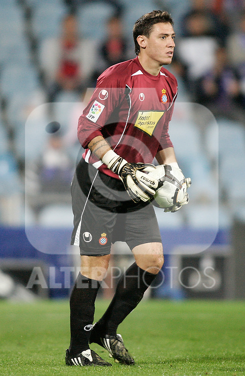 Espanyol's Cristian Alvarez during King's Cup match. October 28, 2009. (ALTERPHOTOS/Alvaro Hernandez).