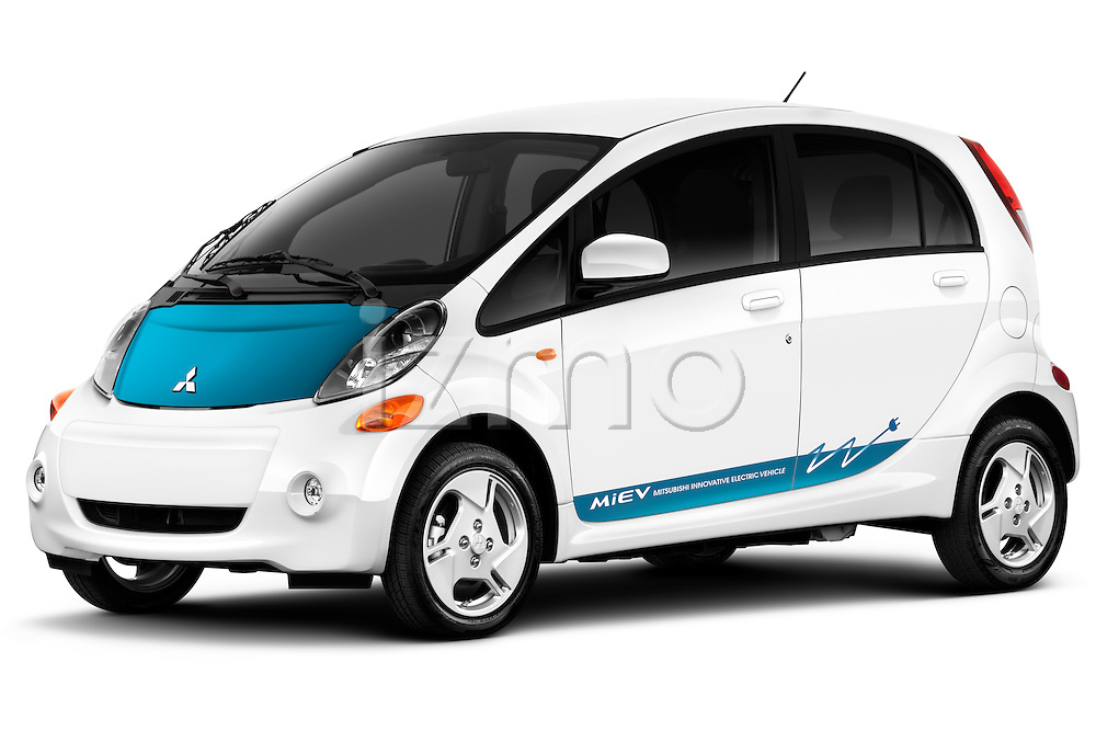 Front three quarter view of a 2012 Mitsubishi MiEV SE.
