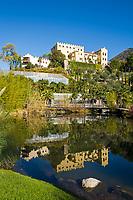 Italien, Suedtirol, Meran: Schloss Trautmannsdorf, Botanischer Garten, Park   Italy, South Tyrol (Alto Adige-Trentino), Merano: Castle Trautmannsdorf, Botanical Garden, Park