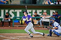 Will Golsan (11) of the Grand Junction Rockies bats in front of catcher Tre Todd (11) during a game against the Ogden Raptors at Lindquist Field on September 7, 2018 in Ogden, Utah. The Rockies defeated the Raptors 8-5. (Stephen Smith/Four Seam Images)