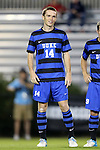 12 October 2012: Duke's Ryan Thompson. The University of Maryland Terrapins defeated the Duke University Blue Devils 2-1 at Koskinen Stadium in Durham, North Carolina in a 2012 NCAA Division I Men's Soccer game.