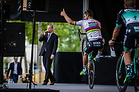 World Champion Peter Sagan (SVK/Bora Hansgrohe) wheelie.<br /> <br /> Le Grand D&eacute;part 2018<br /> 105th Tour de France 2018<br /> &copy;Kramon