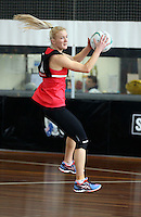 02.09.2016 Silver Ferns Shannon Francois during training in Melbourne Australia. Mandatory Photo Credit ©Michael Bradley.