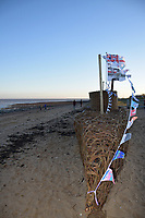 Weekend of events to commemorate 100th anniversary of the German U-Boat fleet surrendering in Harwich, November 1918. Unveiling of willow u-boat, Harwich, Essex Nov 2018