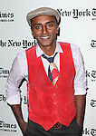 Marcus Samuelsson backstage at theTimesTalks with Paula Dean and Marcus Samuelsson at the Times Center on October 13, 2012 in New York City.