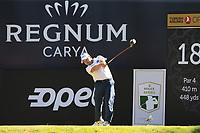Richard Sterne (RSA) tees off the 18th tee during Friday's Round 2 of the 2018 Turkish Airlines Open hosted by Regnum Carya Golf &amp; Spa Resort, Antalya, Turkey. 2nd November 2018.<br /> Picture: Eoin Clarke | Golffile<br /> <br /> <br /> All photos usage must carry mandatory copyright credit (&copy; Golffile | Eoin Clarke)