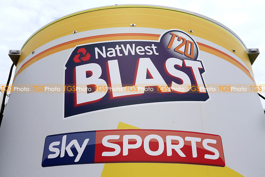 General view of the NatWest T20 Blast sign ahead of Essex Eagles vs Surrey, NatWest T20 Blast Cricket at The Cloudfm County Ground on 7th July 2017