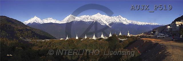 Dr. Xiong, LANDSCAPES, panoramic, photos, Sacred Peaks, Yunnan, China(AUJXP519,#L#)