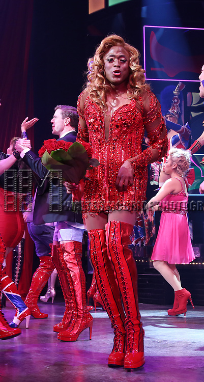 """Wayne Brady during the Curtain Call for Wayne Brady's return to """"Kinky Boots"""" on Broadway on March 5, 2018 at the Hirschfeld Theatre in New York City."""