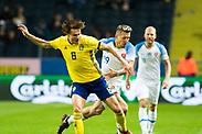SOLNA, SWEDEN - OCTOBER 16: Albin Ekdal of Sweden during the UEFA International Friendly match between Sweden and Slovakia at Friends Arena on October 16, 2018 in Solna, Sweden. Photo by David Lidstrom/LP<br /> ***BETALBILD***