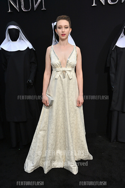 """LOS ANGELES, CA. September 04, 2018: Taissa Farmiga at the world premiere of """"The Nun"""" at the TCL Chinese Theatre, Hollywood."""