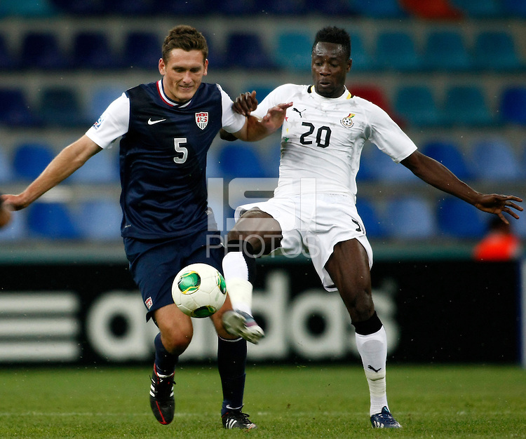 Ghana's Yiadom Boakye (R) and USA's Shane O Neill (L) during their FIFA U-20 World Cup Turkey 2013 Group Stage Group A soccer match Ghana betwen USA at the Kadir Has stadium in Kayseri on June 27, 2013. Photo by Aykut AKICI/isiphotos.com