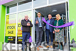 Pictured at the relaunch of Corcorans Carpet & Furniture Store in Cahersiveen which celebrated 20 years in Business on Friday were l-r; P.J.Sugrue, Maurice Fitzgerald, Kieran & Majella Corcoran.