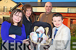 Baby Clodagh O'Connor pictured with her parents Eileen and Kieran and siblings Aisling and Garry, at her christening celebrations in Darby O'Gills on Saturday......