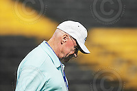 Sep 6, 2008; Hamilton, ON, CAN; Hamilton Tiger-Cats special advisor, organizational development and former head coach Ron Lancaster shortly before his death September 18, 2008 from a heart attack while he was fighting lung cancer\. CFL football - BC Lions defeated the Hamilton Tiger-Cats 35-12 at Ivor Wynne Stadium. Mandatory Credit: Ron Scheffler-www.ronscheffler.com. Copyright (c) Ron Scheffler