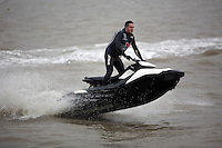 2017 02 14 Jet ski train driver, Mumbles, Wales, UK