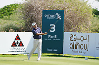Oliver Farr (WAL) on the 3rd during Round 2 of the Oman Open 2020 at the Al Mouj Golf Club, Muscat, Oman . 28/02/2020<br /> Picture: Golffile | Thos Caffrey<br /> <br /> <br /> All photo usage must carry mandatory copyright credit (© Golffile | Thos Caffrey)