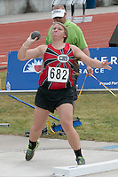 Chaffee Jr. Julia Sutterfield throws the shot in the Class 2 girls shot put. Sutterfield finished as runner-up with a best mark of 36-04.75.
