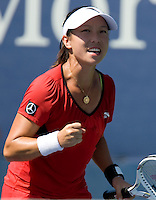 Jie Zheng (CHN) ((21) against Alize Cornet (FRA)  in the second round. Zheng beat Cornet  1-6 6-3 6-3..International Tennis - US Open - Day 3 Wed 02 Sep 2009 - USTA Billie Jean King National Tennis Center - Flushing - New York - USA ..© Frey, Advantage Media Network, Level 1, Barry House, 20-22 Worple Road, London, SW19 4DH +44 208 947 0100..