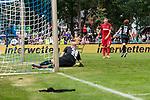 20.07.2019, Heinz-Dettmer-Stadion, Lohne, GER, Interwetten Cup, SV Werder Bremen vs 1. FC Koeln<br /> <br /> im Bild<br /> Jubel 1:0, Joshua Sargent (Werder Bremen #19) bejubelt seinen Treffer zum 1:0, Rafael Czichos (Neuzugang Koeln #05) bedient, <br /> <br /> Foto © nordphoto / Ewert