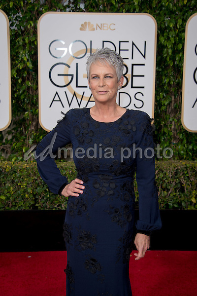 """Nominated for BEST PERFORMANCE BY AN ACTRESS IN A TELEVISION SERIES – COMEDY OR MUSICAL for her role in """"Scream Queens,"""" actress Jamie Lee Curtis attends the 73rd Annual Golden Globes Awards at the Beverly Hilton in Beverly Hills, CA on Sunday, January 10, 2016. Photo Credit: HFPA/AdMedia"""