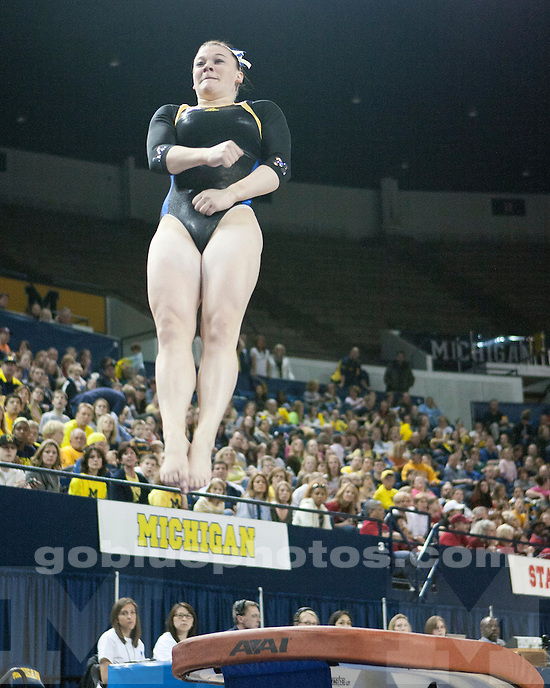 The No. 9 University of Michigan women's gymnastics team scored a season high 197.075 to win the NCAA Ann Arbor Regional Championships at Crisler Arena in Ann Arbor, Mich. on April 2, 2011.