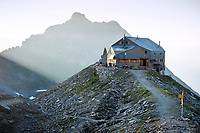 The Cabane FXB Panossière near the Grand Combin, Val de Bagnes, Switzerland
